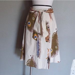 Anthropologie Skirts - Odille for Anthropologie Feather Boho midi skirt